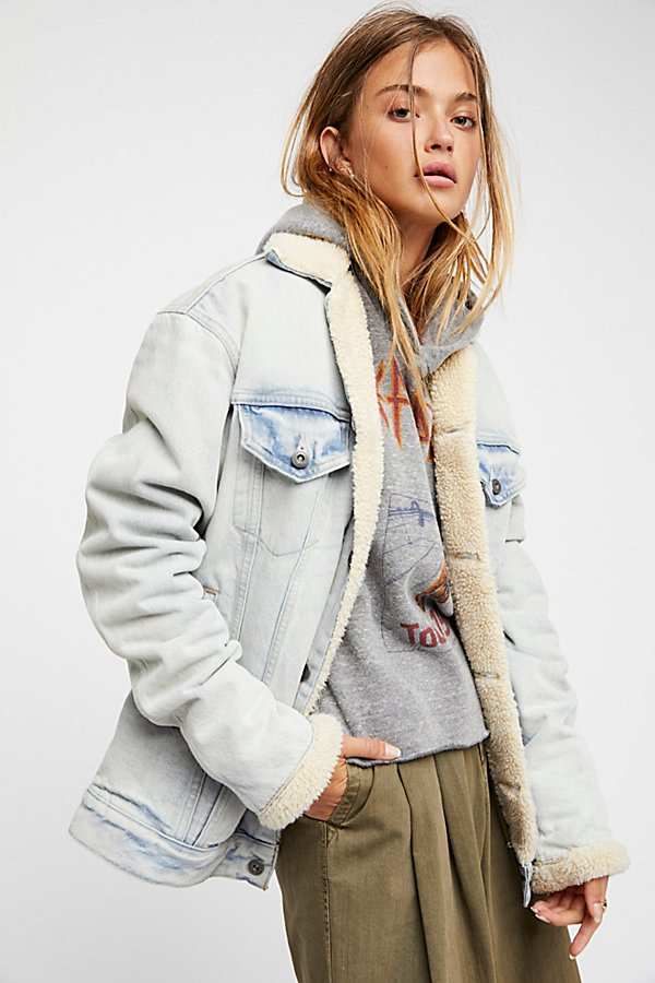 Slide View 1: Oversized Trucker Jacket