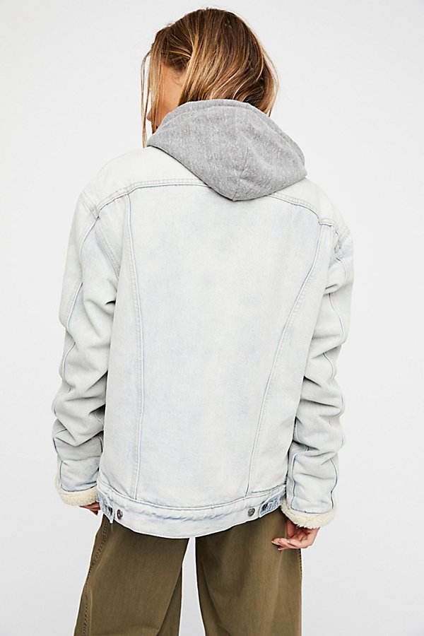 Slide View 3: Oversized Trucker Jacket