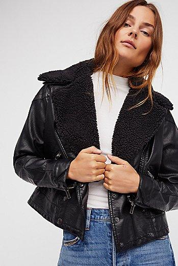 Free People Vegan Leather Jacket
