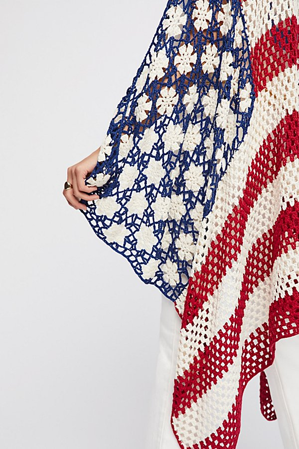 Slide View 7: Lady Liberty Crochet Shawl