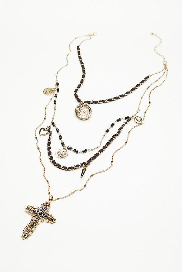 Slide View 3: Florence Leather Charm Rosary