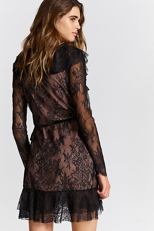 Slide View 3: Daphne Lace Wrap Dress