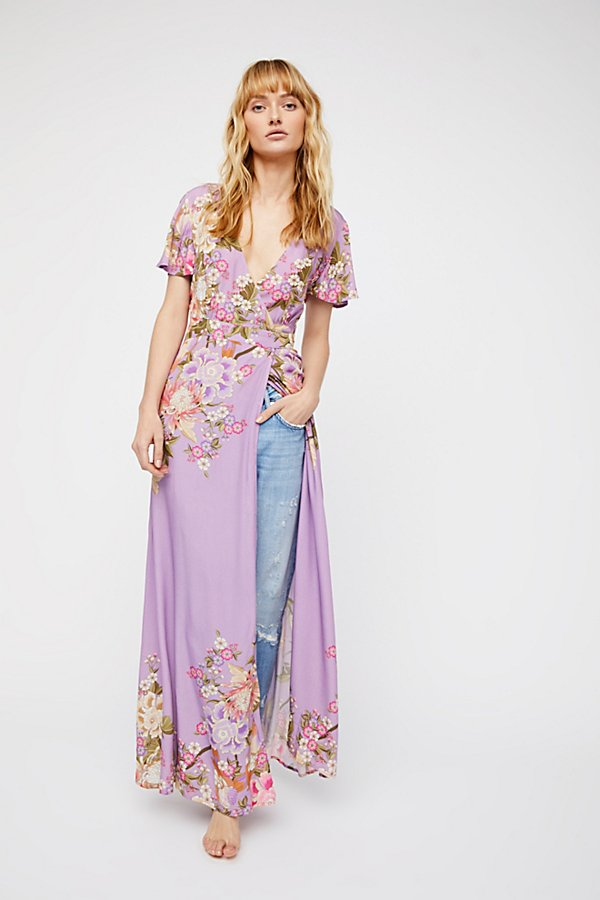Slide View 2: Blue Skies Exclusive Wrap Maxi Dress