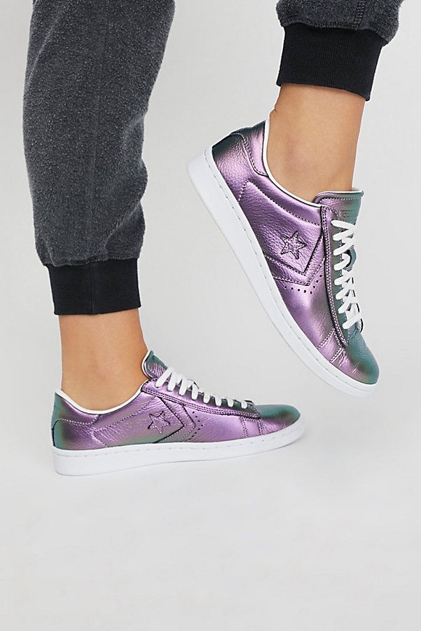 Slide View 1: Viola Leather Low Top Sneaker