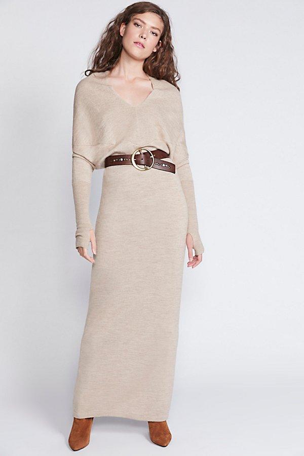 Reversible Long Sweater Dress | Free People