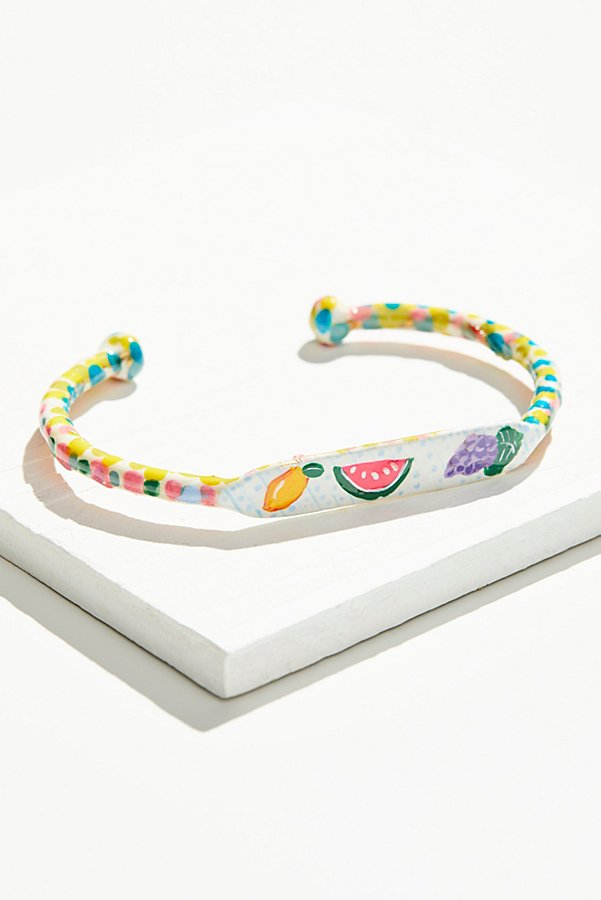 Slide View 1: Hand Painted Cabana Fruit Cuff