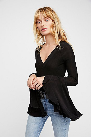 Soo Dramatic Long Sleeve Top