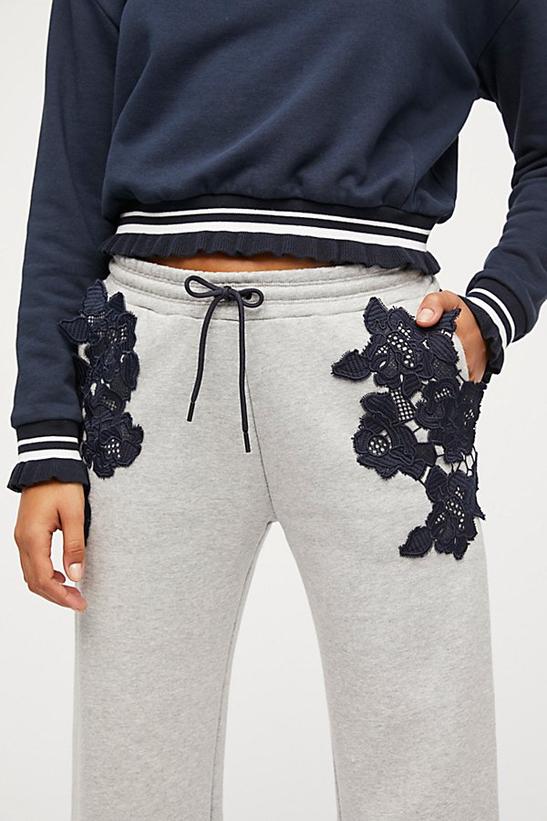 Slide View 1: Lacey Cropped Sweats