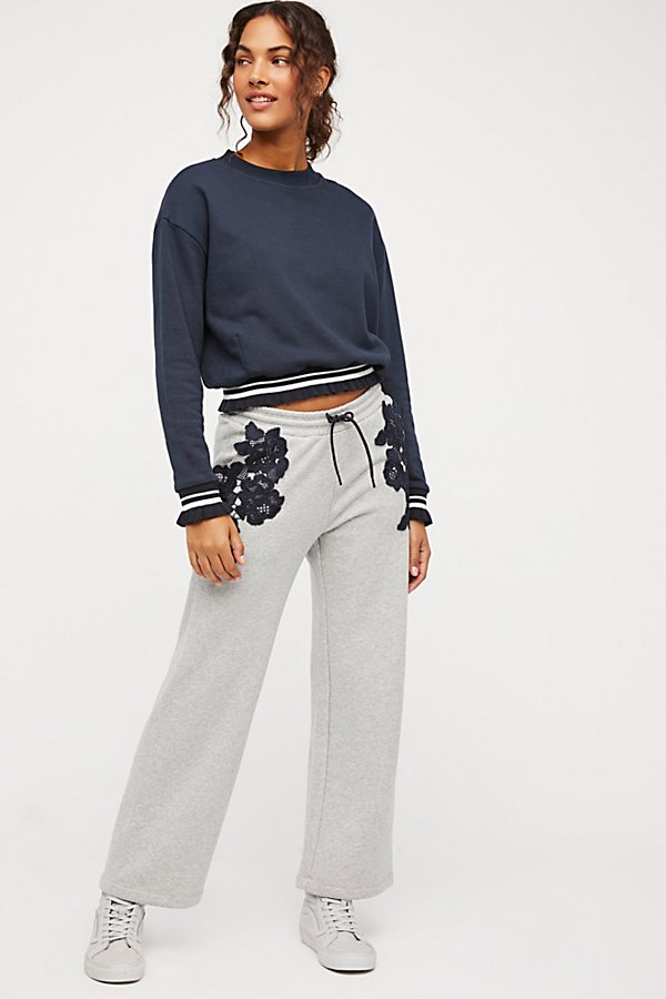 Slide View 3: Lacey Cropped Sweats