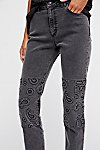 Thumbnail View 3: Embossed Paisley Patti Straight Jeans