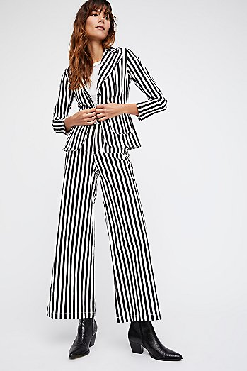 Striped Twill Suit