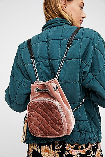 Quilted Chain Backpack