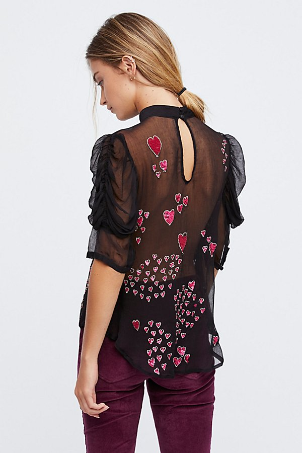 Slide View 3: So In Love Embroidered Blouse