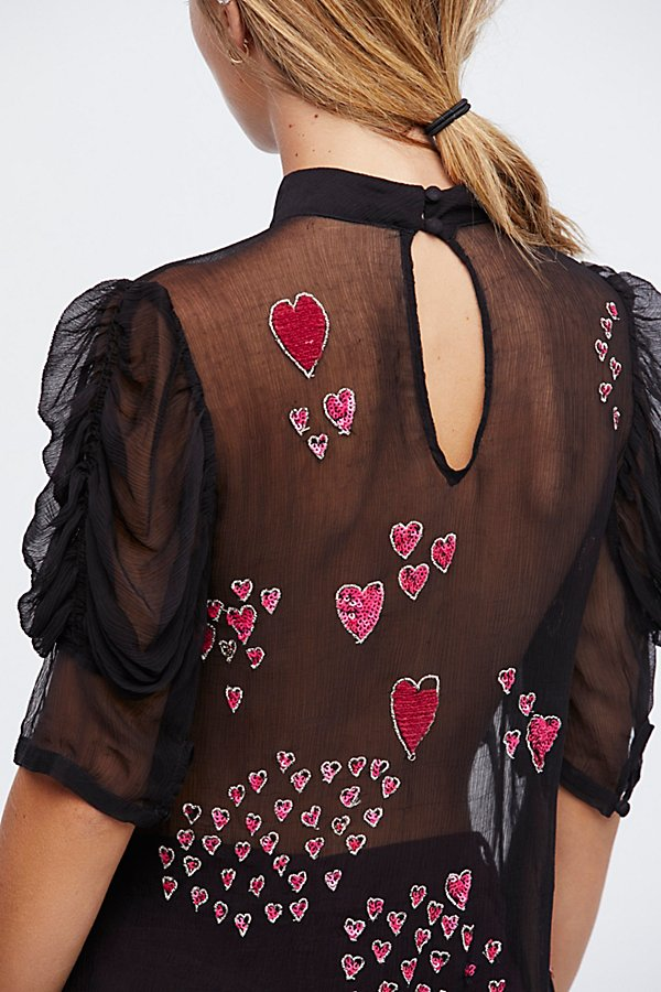 Slide View 5: So In Love Embroidered Blouse