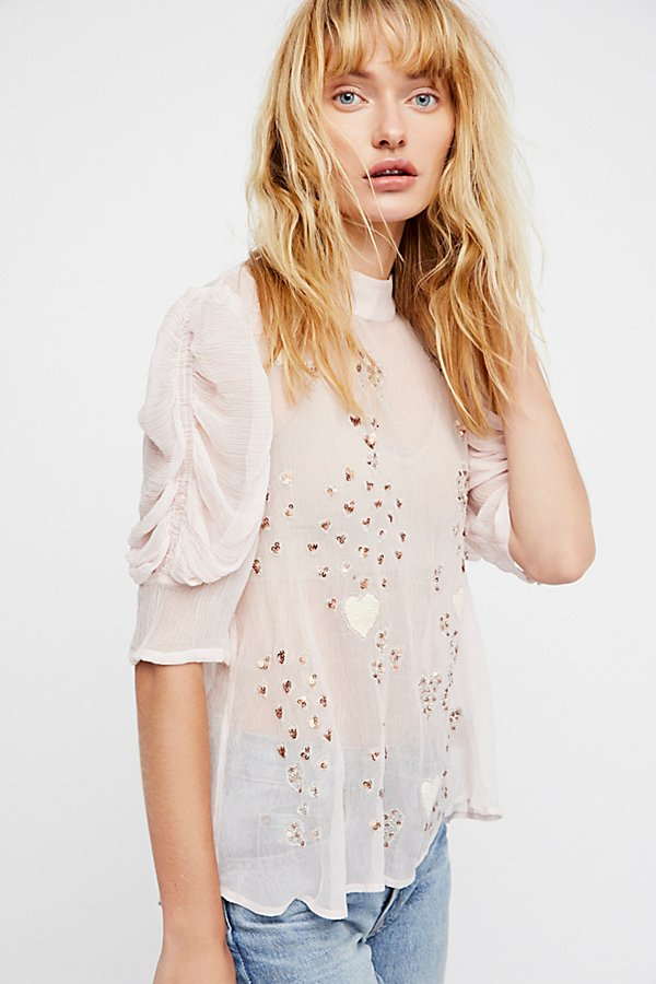 Slide View 1: So In Love Embroidered Blouse