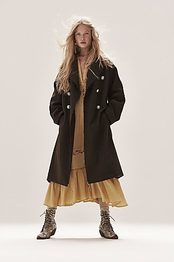 Slouchy Wool Coat