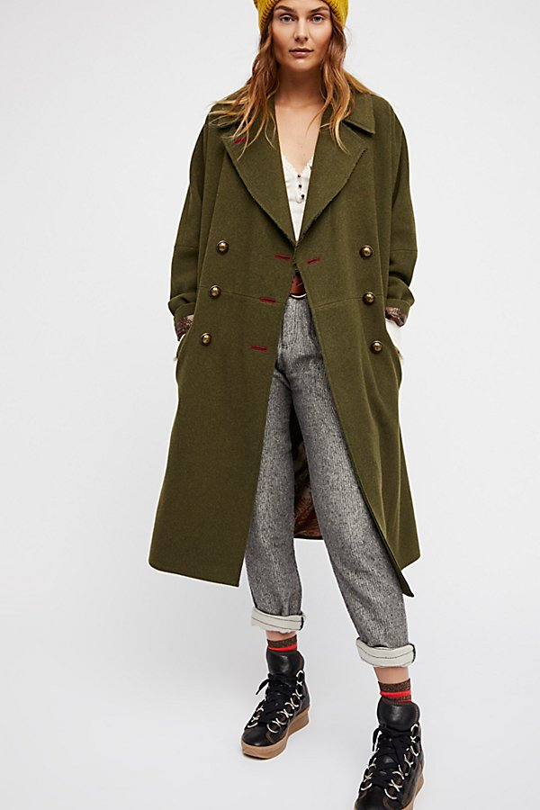 Slide View 1: Slouchy Wool Coat