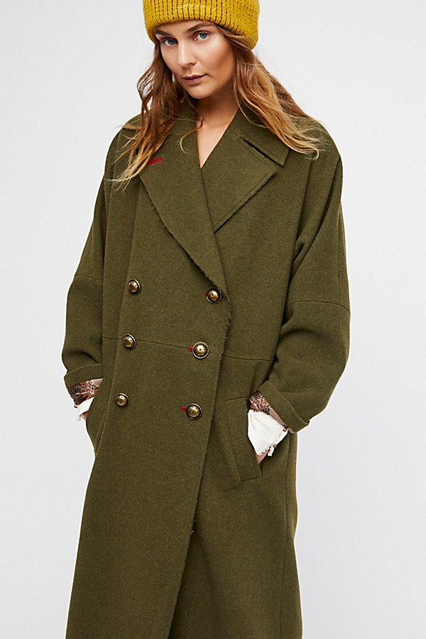 Slide View 3: Slouchy Wool Coat