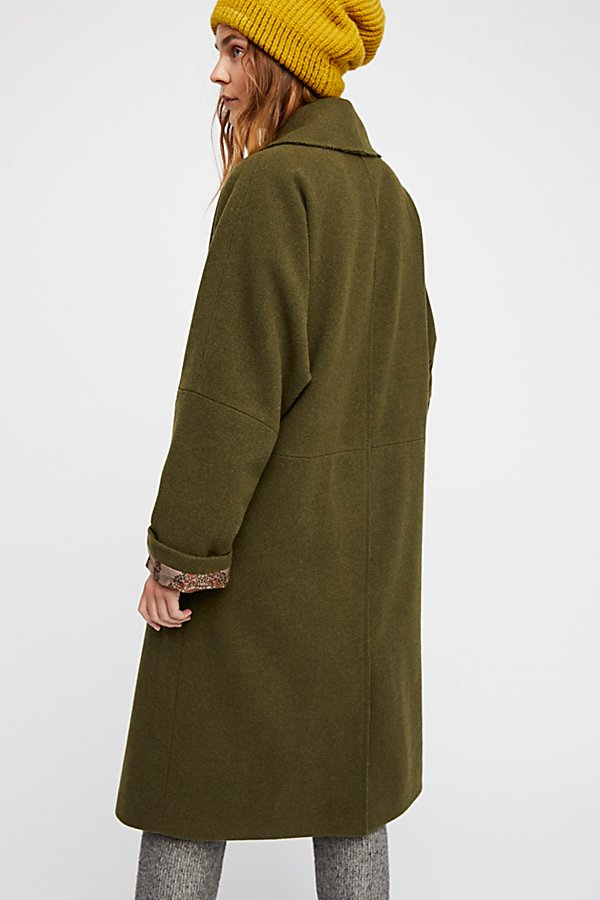 Slide View 4: Slouchy Wool Coat