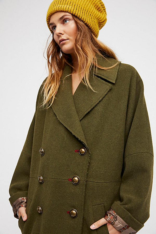 Slide View 5: Slouchy Wool Coat