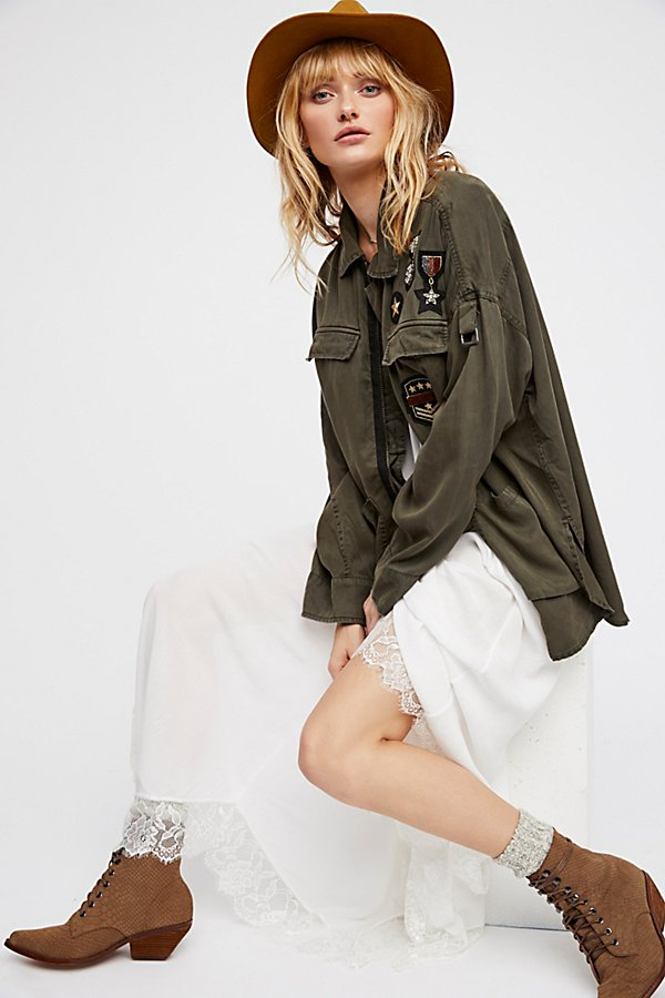 Slide View 2: Drapey Military Shirt Jacket