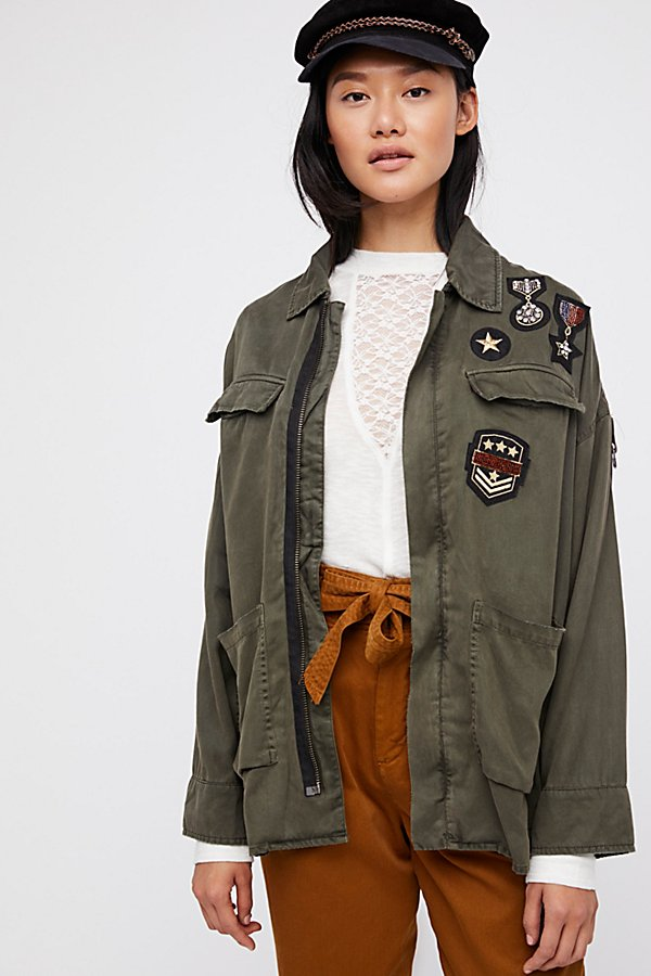 Slide View 3: Drapey Military Shirt Jacket