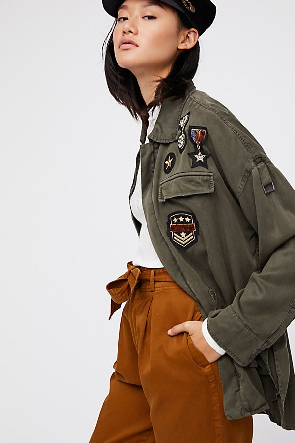 Slide View 5: Drapey Military Shirt Jacket
