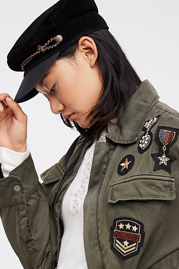 Slide View 6: Drapey Military Shirt Jacket