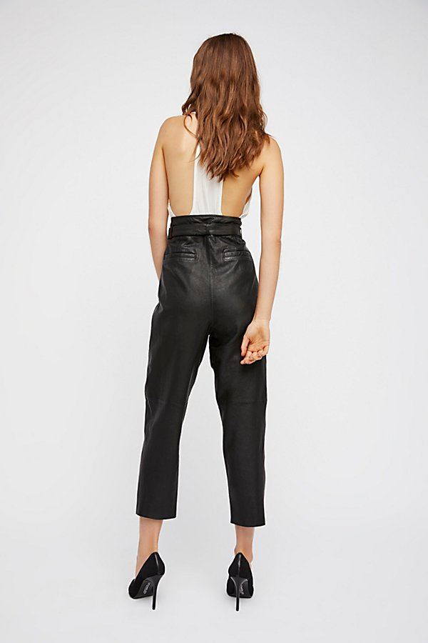 Slide View 3: Nightfall Cropped Leather Trousers