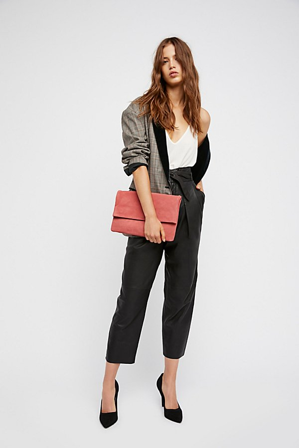 Slide View 5: Nightfall Cropped Leather Trousers