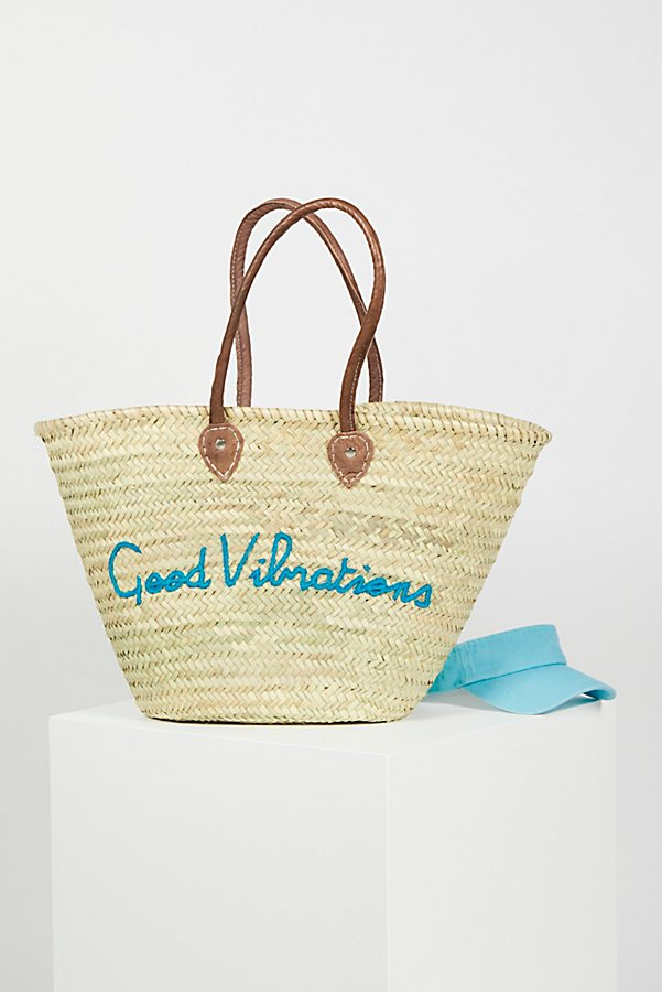 Slide View 1: La Plage Poolside Basket Bag