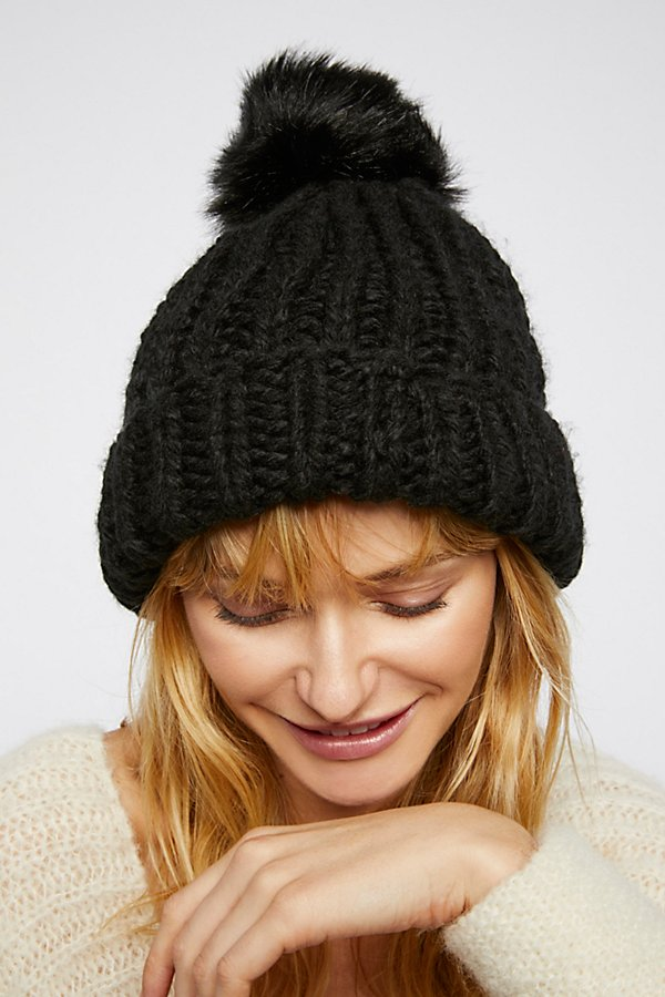 Slide View 2: Happy Trails Pom Beanie