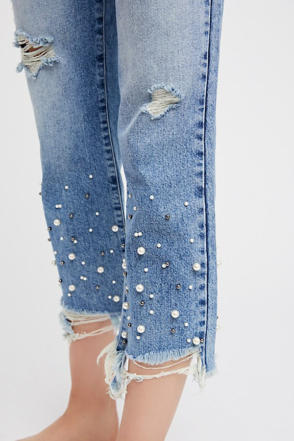 Slide View 5: Pearl Crop Straight Leg Jeans