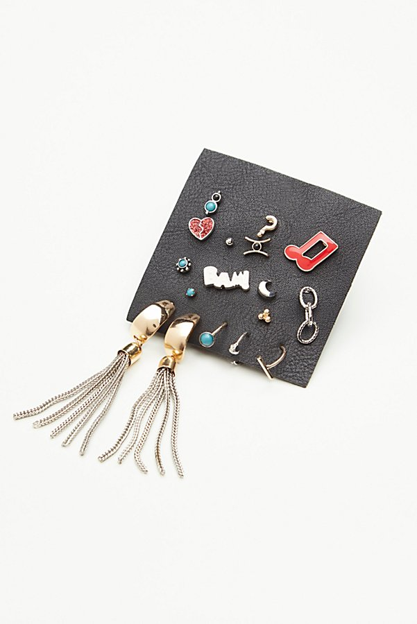 Slide View 2: Enamel Mixed Tassel Piercing Set