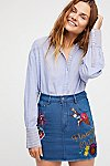 Thumbnail View 3: Flower Child Denim Skirt