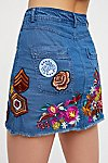 Thumbnail View 4: Flower Child Denim Skirt