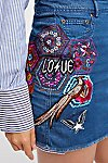 Thumbnail View 5: Flower Child Denim Skirt