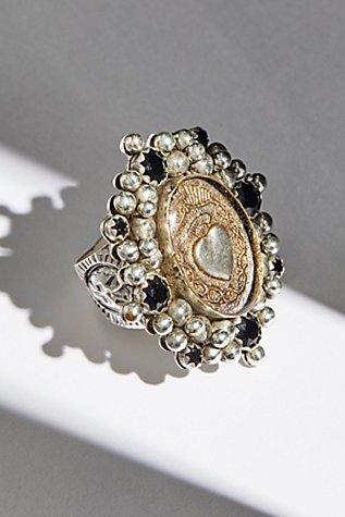 Sacred Heart Crystal Ring  Free People. 1.5 Mm Engagement Rings. Super Engagement Rings. 10x7mm Engagement Rings. Simple Style Wedding Rings