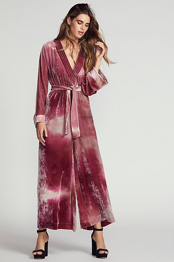 Slide View 1: Cleo Velvet Jumpsuit