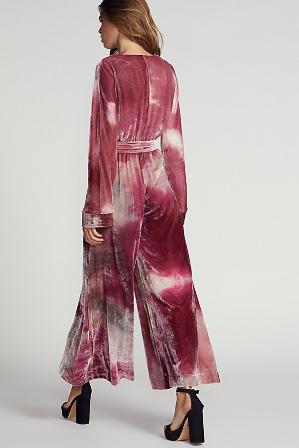 Slide View 2: Cleo Velvet Jumpsuit