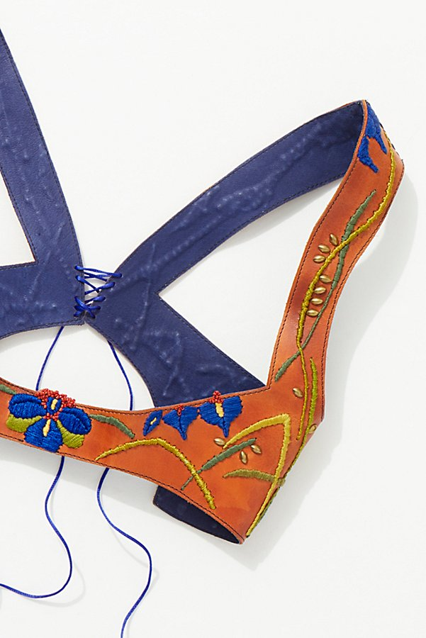 Slide View 3: Hand Painted Leather Harness