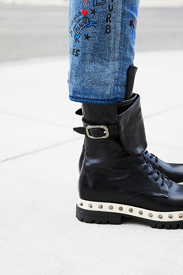 Slide View 1: Explorer Leather Lace-Up Boot