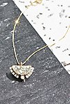 Thumbnail View 3: 14k Half Sol Diamond Necklace