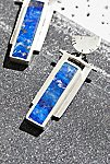 Thumbnail View 2: Sterling Art Deco Inlaid Stone Earrings