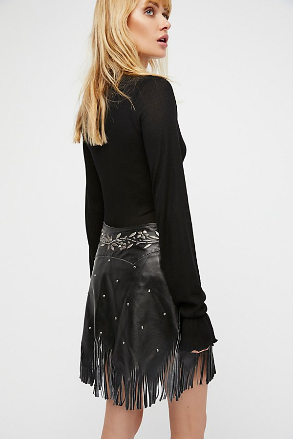 Slide View 2: Howdy Leather Skirt