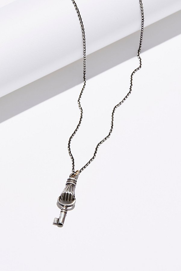 Slide View 3: Sterling Silver Thaddea Charm Necklace