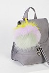 Thumbnail View 1: XL Faux Fur Pompom Bag Charm
