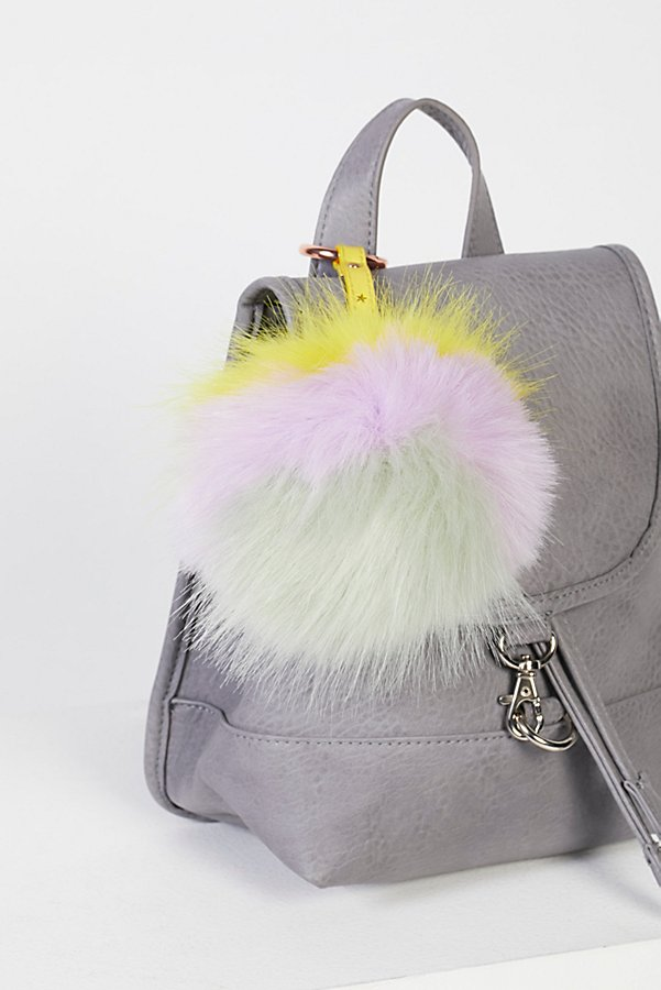 Slide View 1: XL Faux Fur Pompom Bag Charm