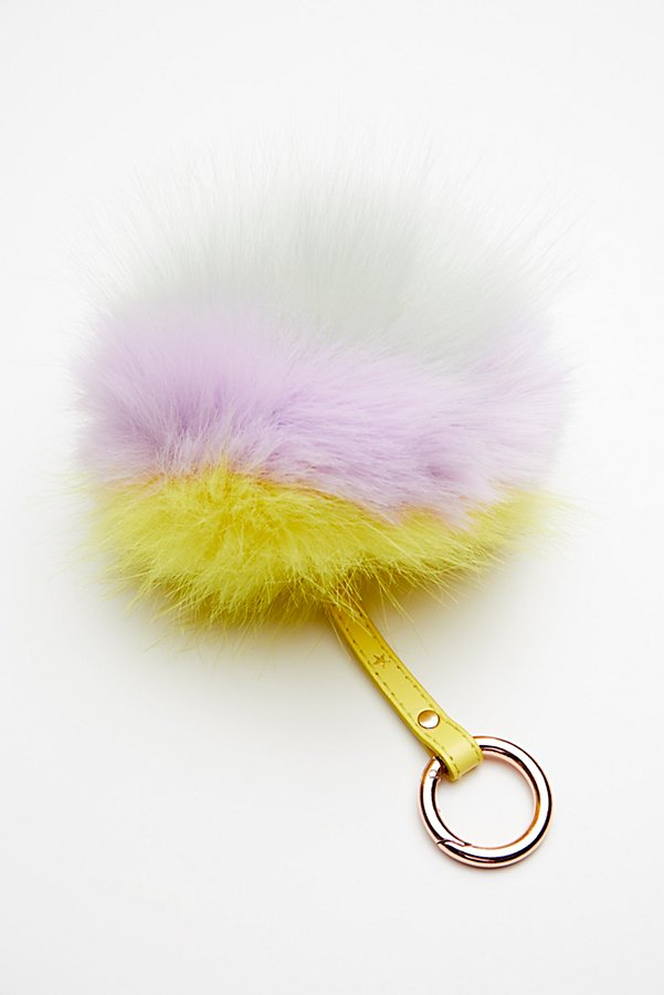 Slide View 2: XL Faux Fur Pompom Bag Charm