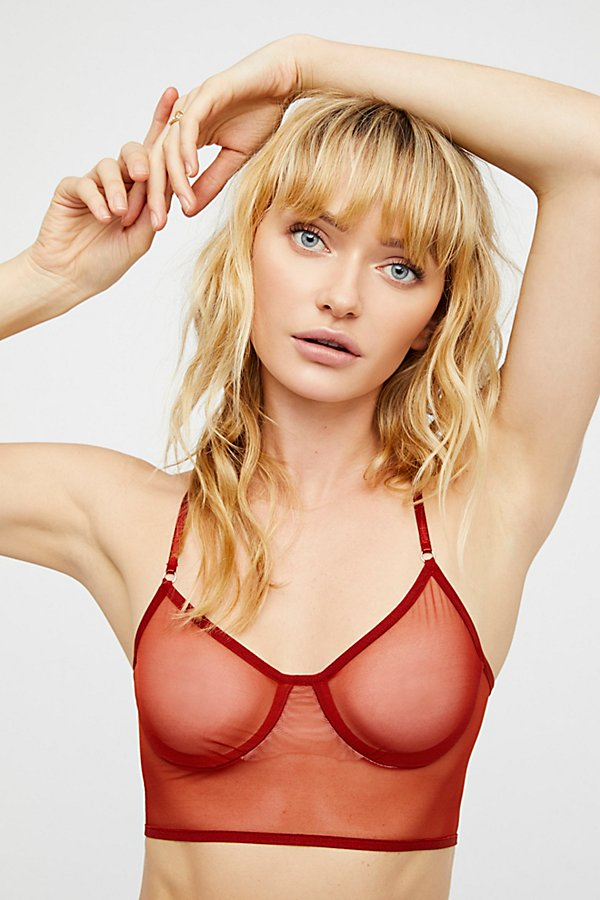 Slide View 1: Whisper Crop Bra